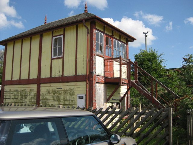 Station signalbox - closed in the 1980s but recently restored